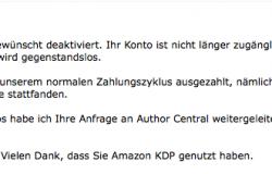 Warum ich bei Amazon mein Konto als eBook-Autor gekündigt habe